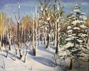 Birches and the First Snow